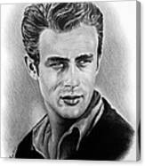 Hollywood Greats James Dean Canvas Print