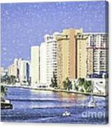 Hollywood In Florida Canvas Print