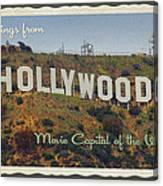 Hollywood Postcard Canvas Print