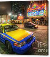 Hollywood Taxi Canvas Print