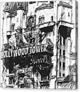 Hollywood Tower Canvas Print