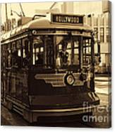 Hollywood Trolley Canvas Print