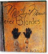 Hollywood Walk Of Fame Marilyn Monroe 5d29023 Canvas Print