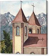 Holy Family Catholic Church In Fort Garland Colorado Canvas Print