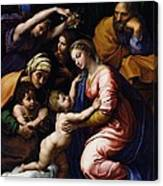Holy Family Known As The Grande Famille Of Francois I, 1518 Oil On Canvas Canvas Print