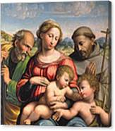 Holy Family With The Infant St. John The Baptist And St. Francis Canvas Print