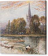 Holy Trinity Church On The Banks If The River Avon Stratford Upon Avon Canvas Print