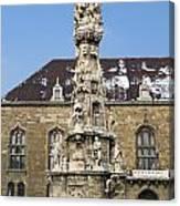 Holy Trinity Statue Budapest Canvas Print