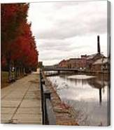 Holyoke Mills And Canal Canvas Print