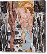 Homage To Klimt's Three Ages Of Woman Canvas Print