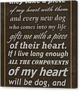 Homage To The Dogs In Our Lives Canvas Print