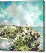 Homage To Vincent Had He Only Seen Cozumel Canvas Print