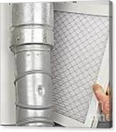 Home Air Filter Replacement Canvas Print