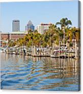 Home And Water And City Canvas Print