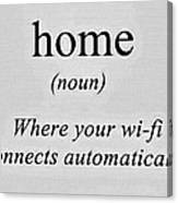 Home And Wifi Canvas Print