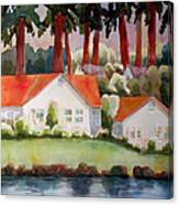 Home By The Lake Canvas Print