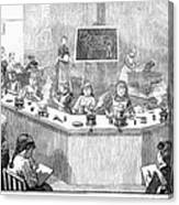Home Economics Class, 1886 Canvas Print
