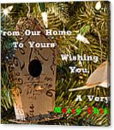 Home In The Tree W Text Canvas Print