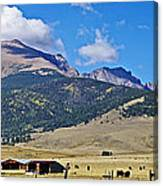Home On The Range - A Westcliffe Ranch Canvas Print