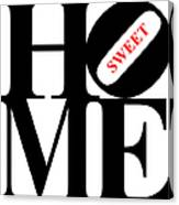 Home Sweet Home 20130713 Black White Red Canvas Print