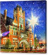 Home Town Christmas Canvas Print