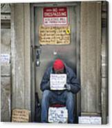 Homeless In The Usa Canvas Print