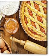 Homemade Italian Crostata With Canvas Print