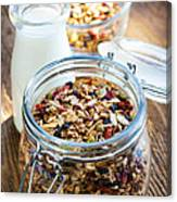 Homemade Toasted Granola Canvas Print