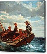 Homer's Breezing Up -- A Fair Wind Canvas Print