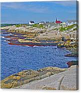 Homes Across Peggy's Cove-ns Canvas Print