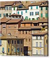 Homes In Cortona Canvas Print