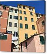 homes in Sori - Italy Canvas Print