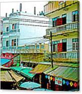 Homes In Tachilek-burma Canvas Print