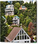 Homes On Mt. Harrison-smoky Mountains Gatlinburg Tennesse Canvas Print