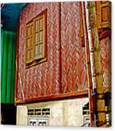 Homes On Stilts In Tachilek-burma Canvas Print