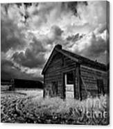 Homestead Under Stormy Sky Canvas Print