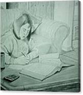 Homework Canvas Print