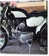 Honda Benley S110 Cafe Racer 1975 Restored Canvas Print