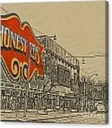 Honest Eds On Markham Street Canvas Print