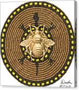 Honey Bee Turtle Canvas Print