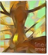 Honey Pastel Abstract Canvas Print