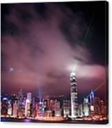 Hong Kong Laser Lights Canvas Print