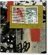 Hong Kong Postage Collage Canvas Print
