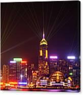 Hongkong A Symphony Of Lights Canvas Print