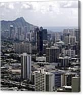 Honolulu - Diamond Head - Pacific Canvas Print