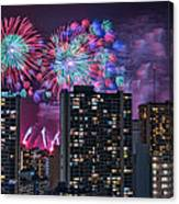 Honolulu Festival Fireworks Canvas Print