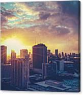 Honolulu Hawaii Sunset Canvas Print
