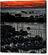 Honolulu Marina Sunset Canvas Print
