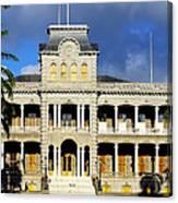 Honolulu Old Palace Close View Canvas Print