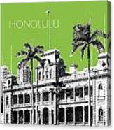 Honolulu Skyline Iolani Palace - Olive Canvas Print